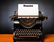 typewriter resume