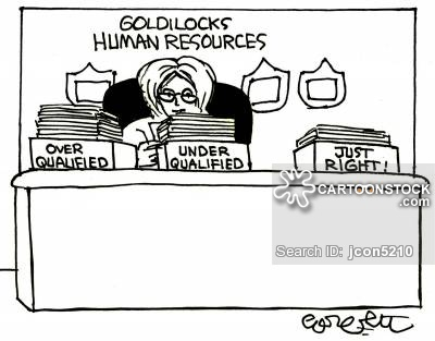 Goldilocks Human Resources...Over qualified...Under qualified...Just right!
